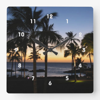 Tropical Destination Clock