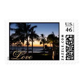 Tropical Destination Love Postage