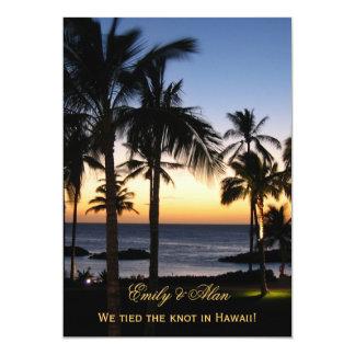Tropical Destination Marriage Announcement Cards