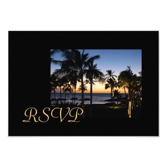 Tropical Destination RSVP cards