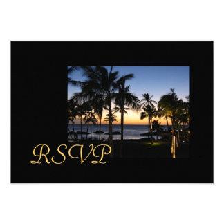 Tropical Destination RSVP cards Invite