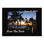 "Tropical Destination Save The Date Card 5"" X 7"" Invitation Card"
