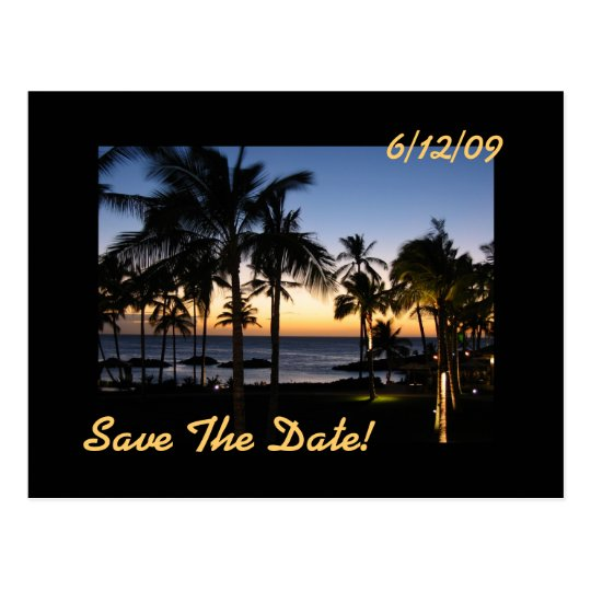 Tropical Destination Save The Date Postcard