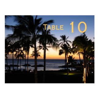 Tropical Destination Table Number Postcard