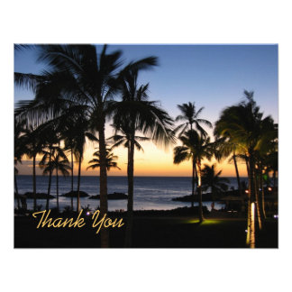Tropical Destination Thank You Card Invitations