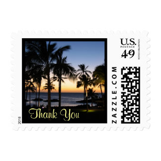 Tropical Destination Thank You Postage
