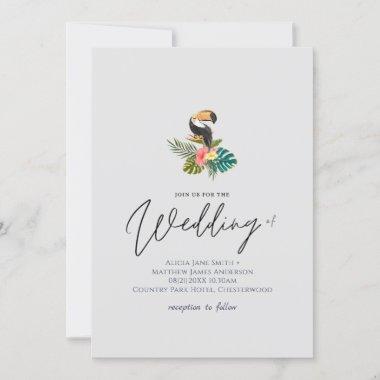 Tropical Destination Toucan Wedding