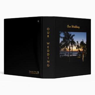 Tropical Destination Wedding Album Binder