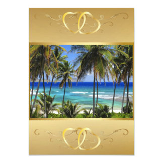 Tropical Destination Wedding Invitation3 Card