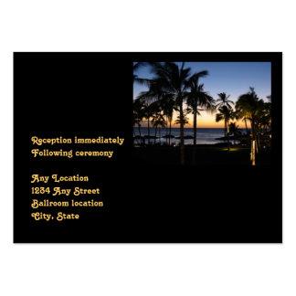 Tropical Destination Wedding Reception Card Large Business Card