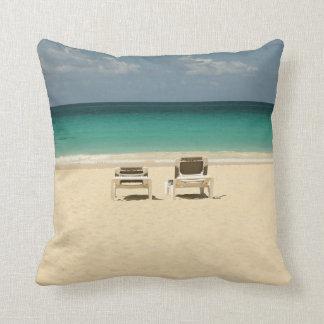 Tropical Dominican Beach Paradise Throw Pillow