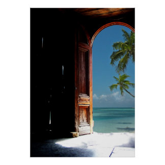 Tropical Dream Door Poster