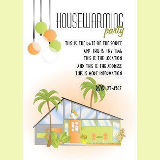 Tropical Dream House invitation