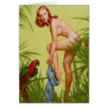 Tropical Dressing Pin Up Card