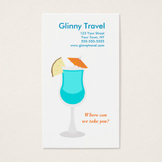 Tropical Drink Business Card Template