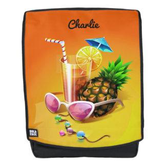 Tropical Drink custom name backpack