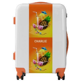 Tropical Drink custom name luggage