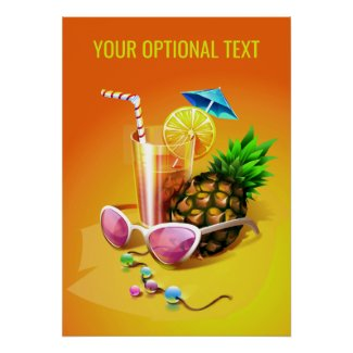Tropical Drink custom poster