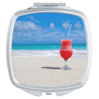 Tropical Drink on the Beach Vanity Mirror
