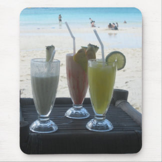 Tropical drinks mouse pad