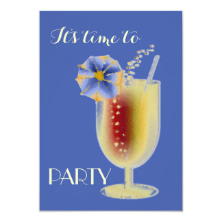 Tropical Drinks Party Invitation