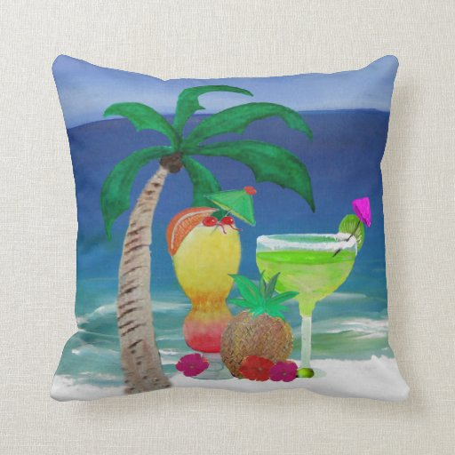 Tropical Drinks pillow
