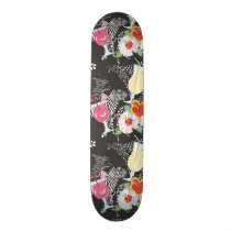 Tropical Drinks With Animals Skateboard Deck