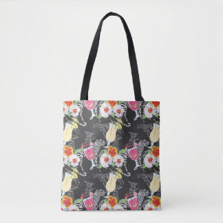 Tropical Drinks With Animals Tote Bag