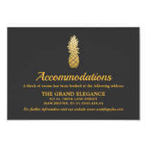 Tropical Elegance | Pineapple Accommodations Card