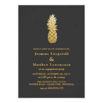 Tropical Elegance | Pineapple Engagement Party Card