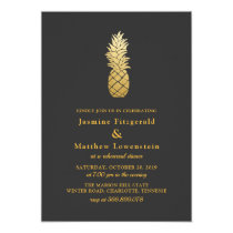 Tropical Elegance | Pineapple Rehearsal Dinner Card