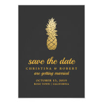 Tropical Elegance | Pineapple Save The Date Card