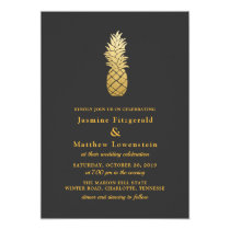 Tropical Elegance | Pineapple Wedding Card