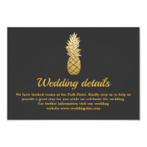Tropical Elegance | Pineapple Wedding Details Card