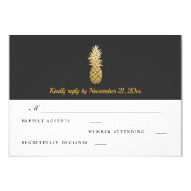 Tropical Elegance | Pineapple Wedding RSVP Card