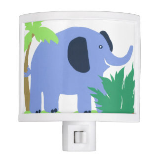Tropical Elephant Night Light, Safari Sky Look Nite Lites