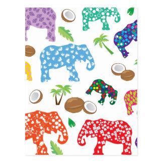 Tropical Elephants Postcard