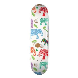 Tropical Elephants Skateboard Deck