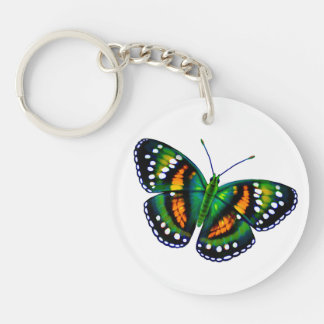 Tropical Emerald Green Butterfly Keychain