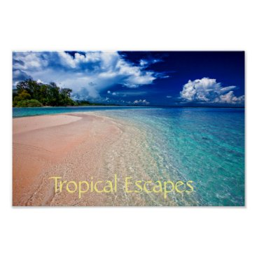 Beach Themed Tropical Escapes Poster