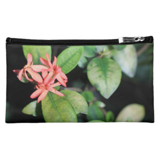 Tropical Exotic Coral Flower, Kew Cosmetic Bag