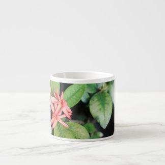Tropical Exotic Coral Flower, Kew Espresso Mug