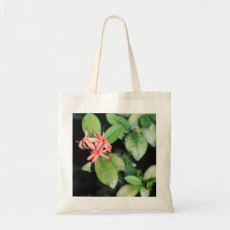 Tropical Exotic Coral Flower, Kew Gardens Tote Bag
