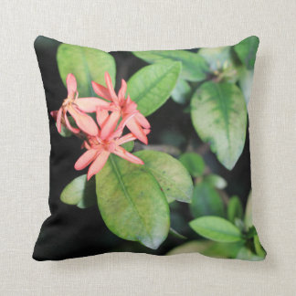 Tropical Exotic Coral Flower Kew Polyester Cushion Throw Pillow