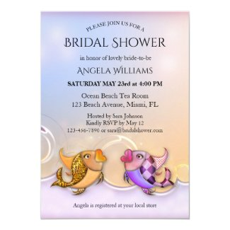 Tropical Exotic Fishes Bridal Shower Invitation