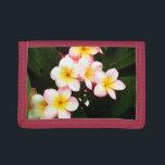 "Tropical Exotic Frangipani Flower Trifold Wallet<br><div class=""desc"">Tropical Frangipani Flower Image.  Visit my Shop:  http://www.zazzle.com/wonderfulpictures*</div>"