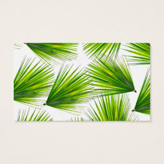 Tropical Exotic Hawaiian Palm Fronds Business Card