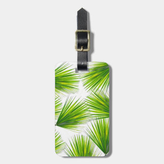 Tropical Exotic Hawaiian Palm Fronds Luggage Tag