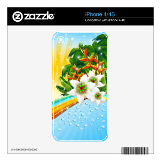 Tropical Exotic Summer Holidays Decals For The iPhone 4S