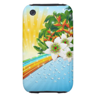 Tropical Exotic Summer Holidays Tough iPhone 3 Cases